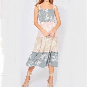 Entro tiered maxi dress, NWT